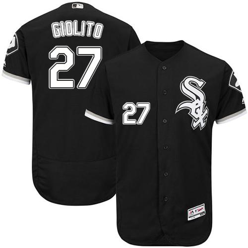White Sox 27 Lucas Giolito Black Flexbase Jersey