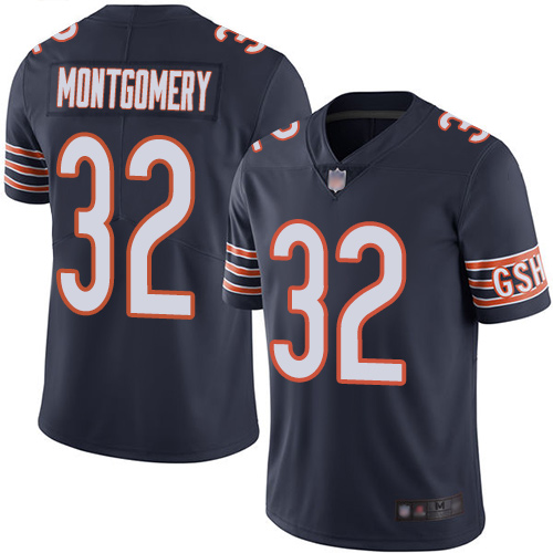 Nike Bears 32 David Montgomery Navy Vapor Untouchable Limited Jersey