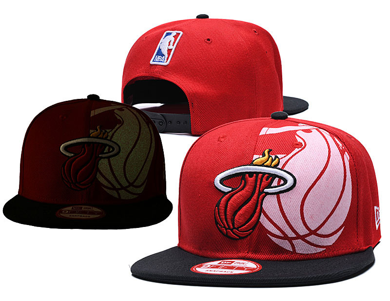 Heat Team Logo Red Black Adjustable Hat GS