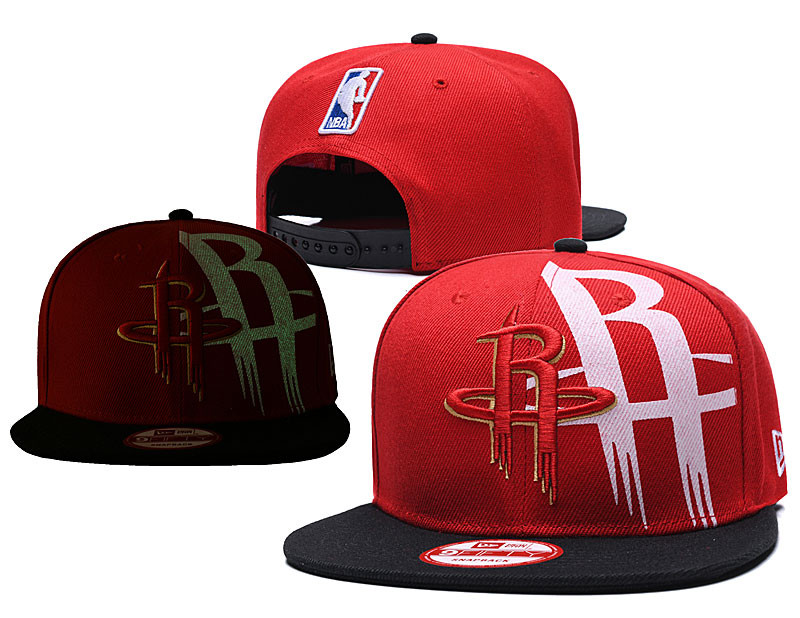 Rockets Team Logo Red Black Adjustable Hat GS
