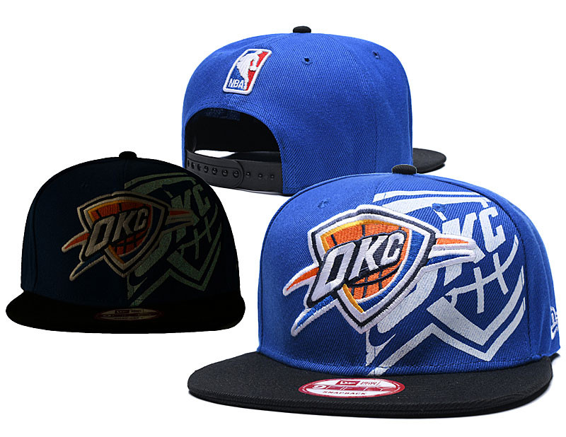 Thunder Team Logo Blue Black Adjustable Hat GS