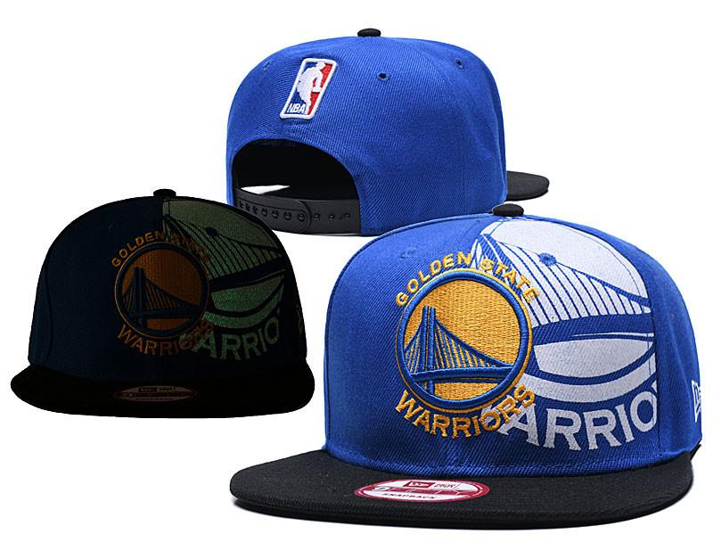 Warriors Team Logo Blue Black Adjustable Hat GS