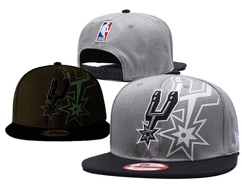 Spurs Team Logo Gray Black Adjustable Hat GS