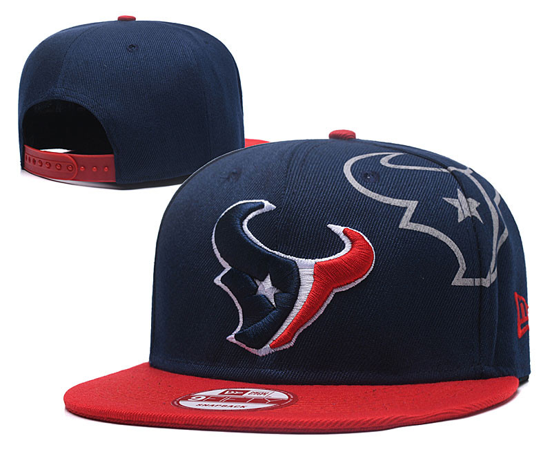 Texans Team Logo Navy Red Adjustable Hat GS