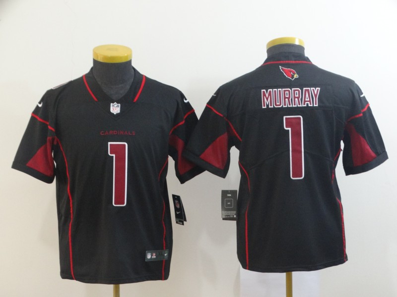 Nike Cardinals 1 Kyler Murray Black Youth 2019 NFL Draft First Round Pick Color Rush Limited Jersey