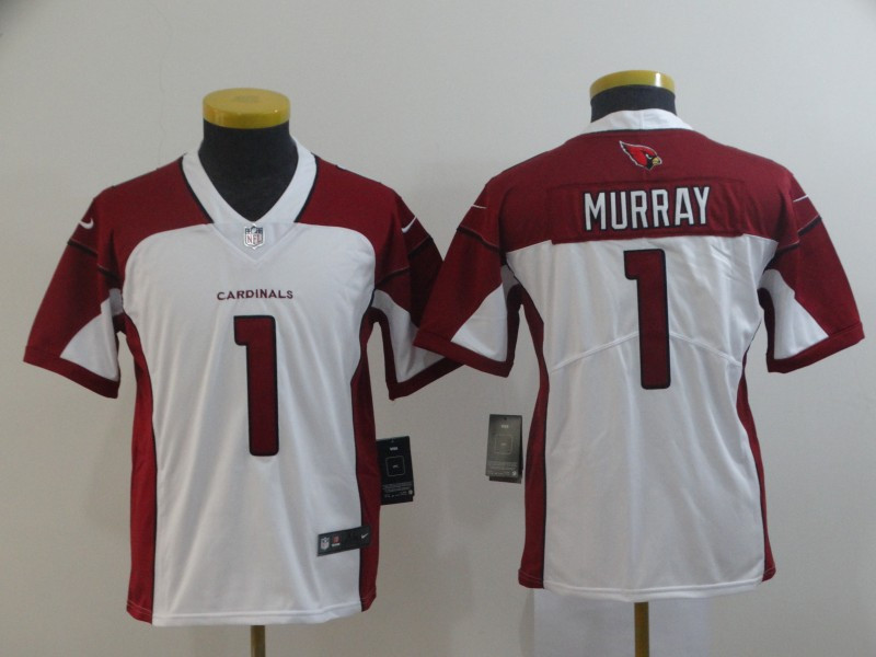 Nike Cardinals 1 Kyler Murray White Youth 2019 NFL Draft First Round Pick Vapor Untouchable Limited Jersey