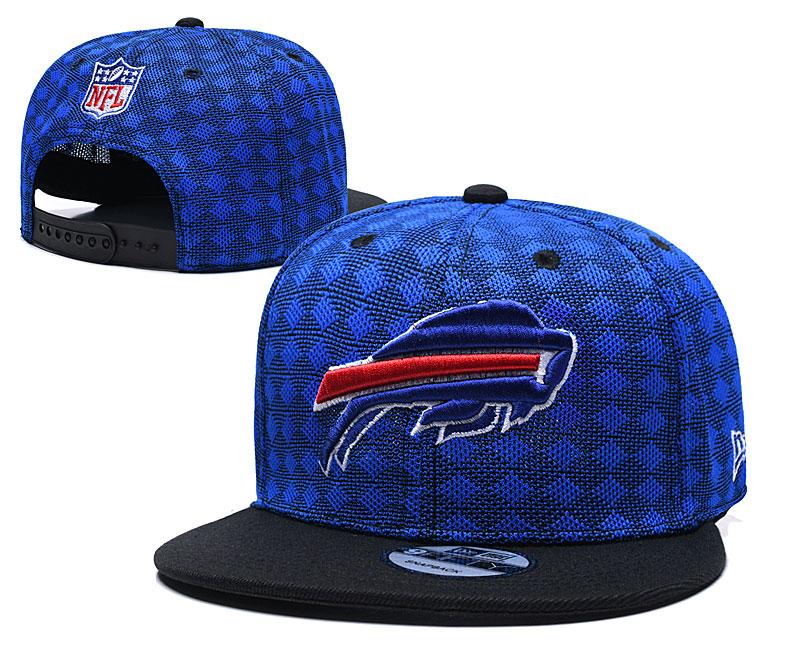 Bills Team Logo Royal Black Adjustable Hat TX