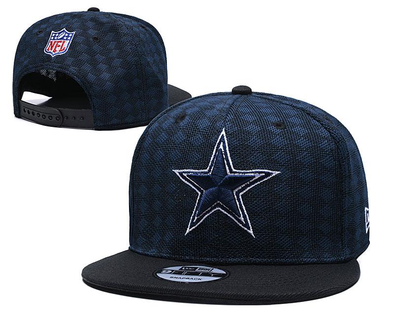 Cowboys Team Logo Navy Black Adjustable Hat TX