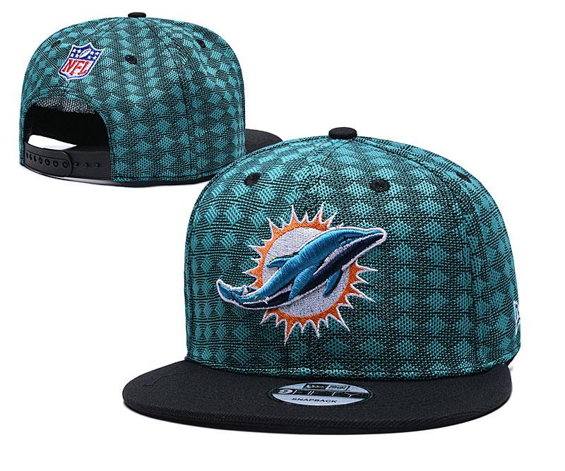 Dolphins Team Logo Green Black Adjustable Hat TX
