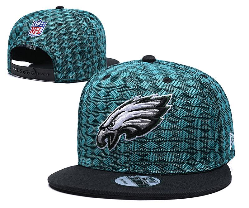 Eagles Team Logo Green Black Adjustable Hat TX