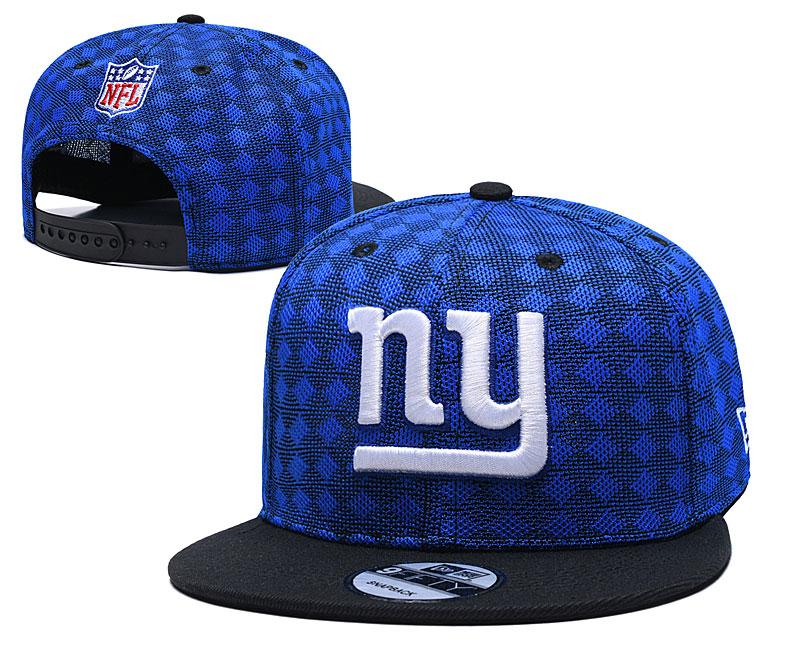 New York Giants Team Logo Royal Black Adjustable Hat TX
