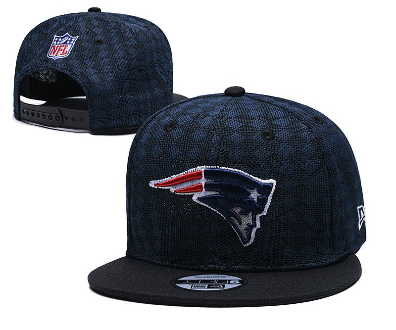 Patriots Team Logo Navy Black Adjustable Hat TX