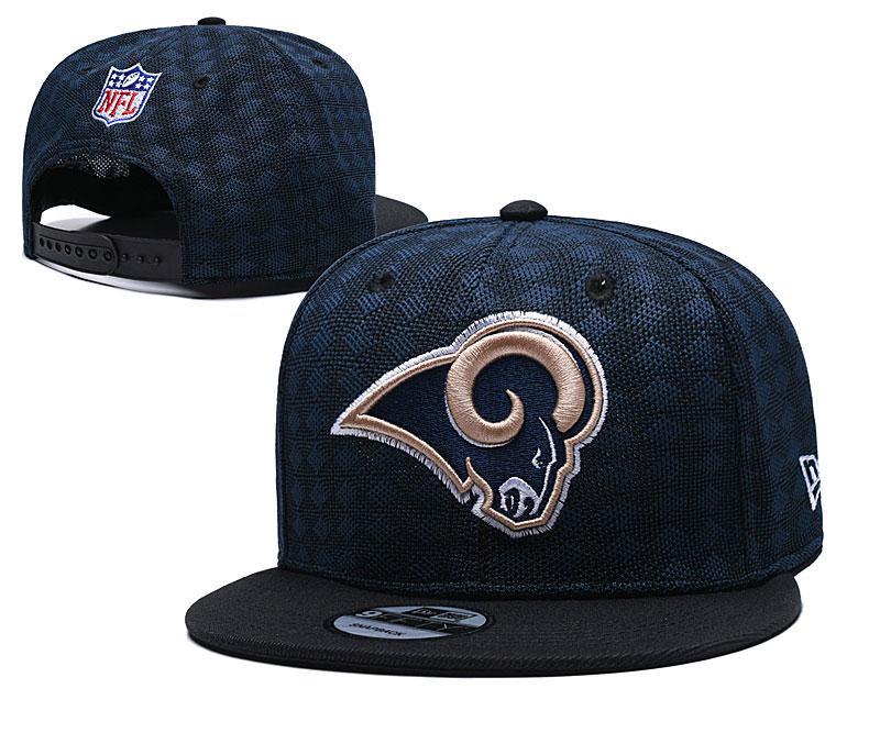 Rams Team Logo Navy Black Adjustable Hat TX