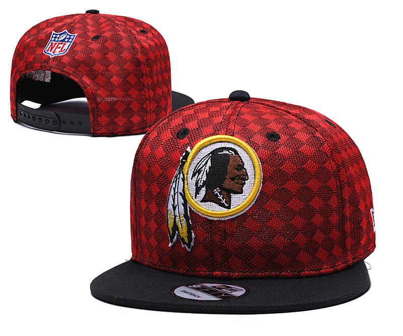 Redskins Team Logo Red Black Adjustable Hat TX