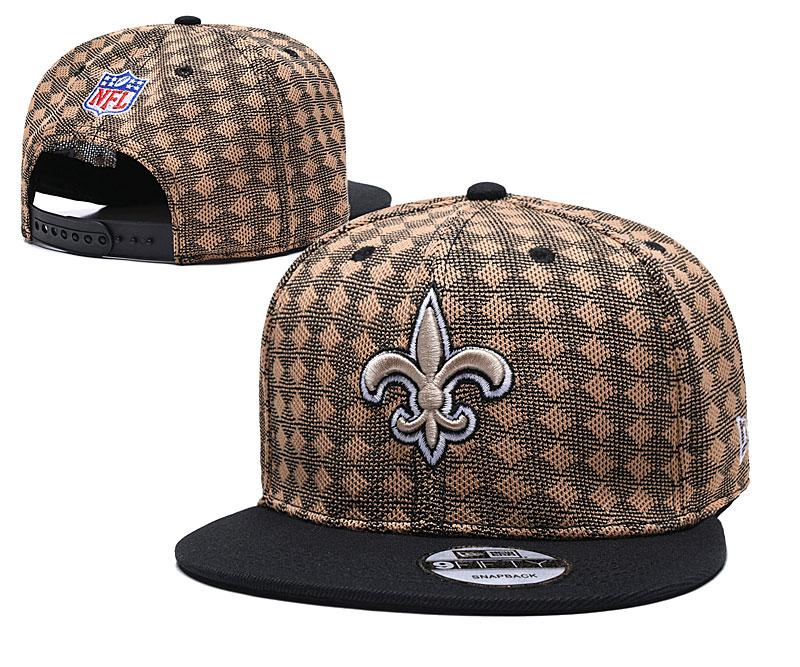 Saints Team Logo Brown Black Adjustable Hat TX