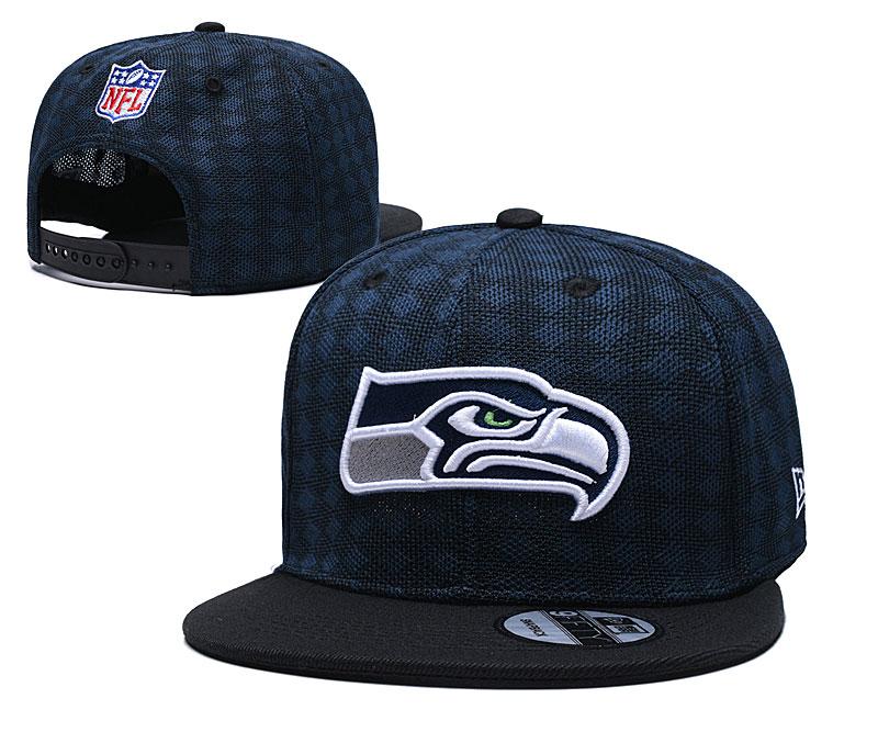 Seahawks Team Logo Navy Black Adjustable Hat TX