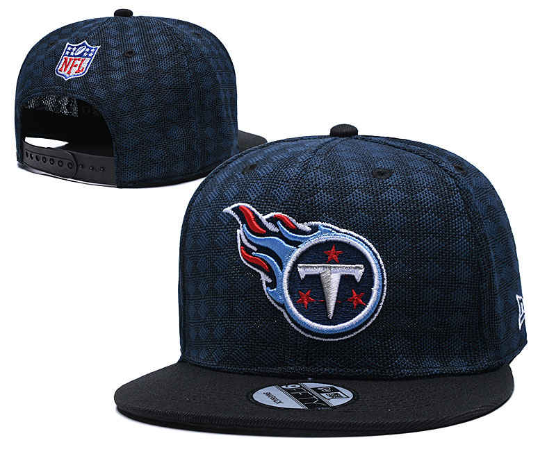 Titans Team Logo Navy Black Adjustable Hat TX