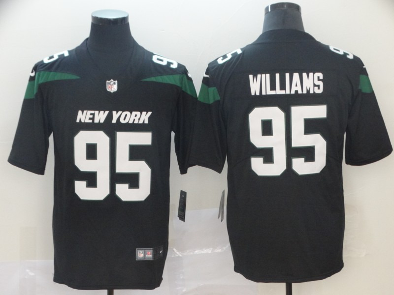 Jets 95 Quinnen Williams Black 2019 NFL Draft First Round Pick Vapor Untouchable Limited Jersey