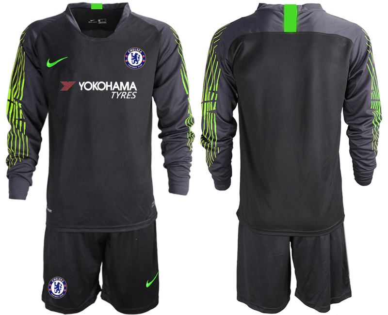 2018-19 Chelsea Black Long Sleeve Goalkeeper Soccer Jersey