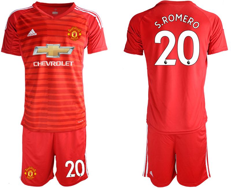 2019-20 Manchester United 20 S.ROMERO Red Goalkeeper Soccer Jersey
