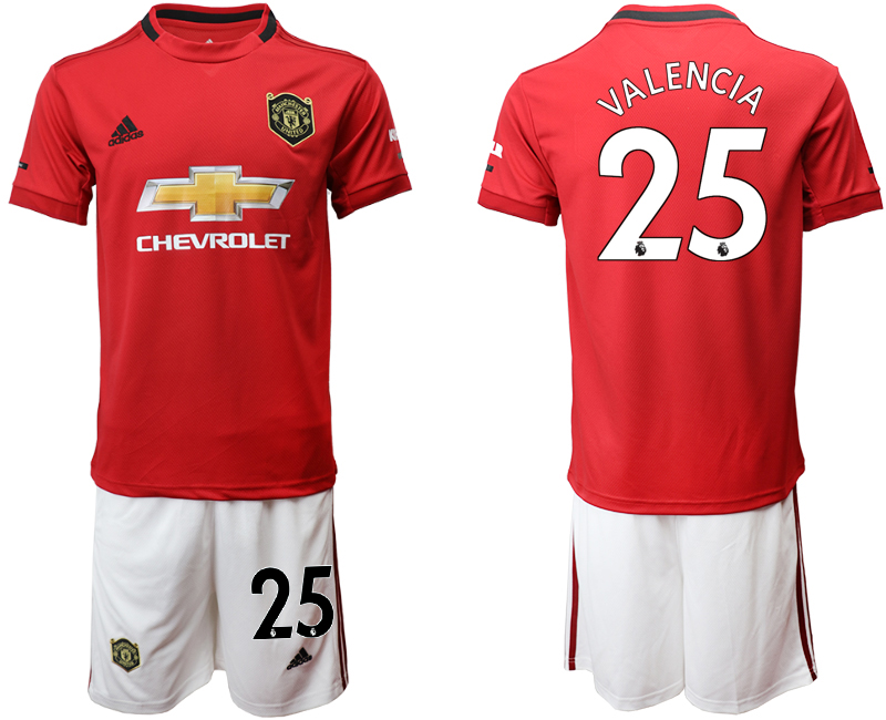 2019-20 Manchester United 25 VALENCIA Home Soccer Jersey