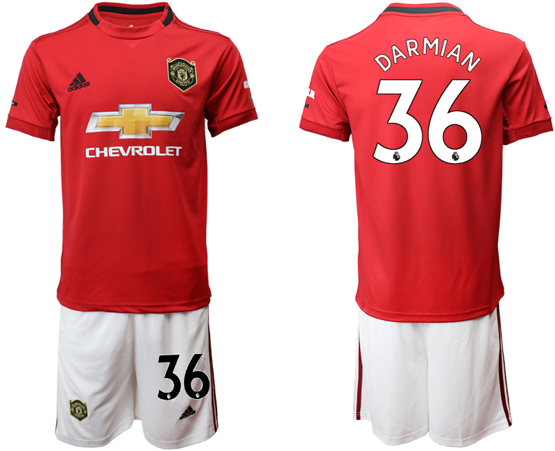 2019-20 Manchester United 36 DARMIAN Home Soccer Jersey