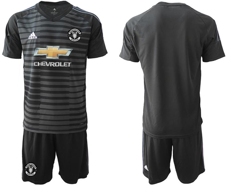 2019-20 Manchester United Black Goalkeeper Soccer Jersey