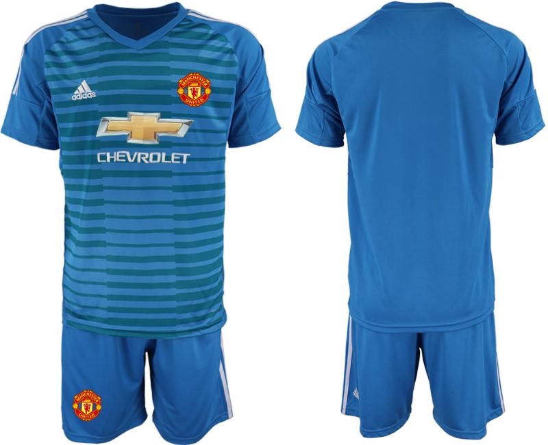 2019-20 Manchester United Blue Goalkeeper Soccer Jersey