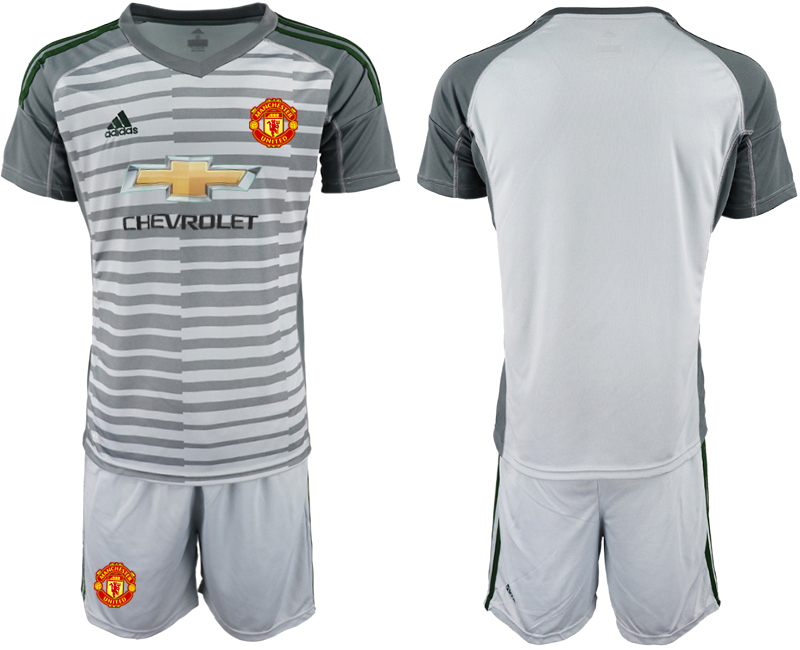2019-20 Manchester United Gray Goalkeeper Soccer Jersey