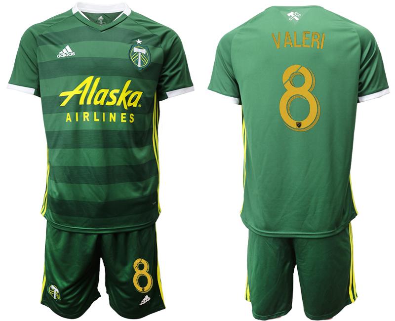 2019-20 Portland Timbers 8 VALERI Home Soccer Jersey