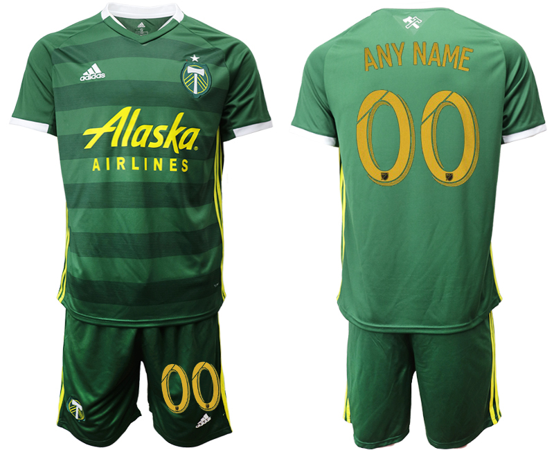 2019-20 Portland Timbers Customized Home Soccer Jersey