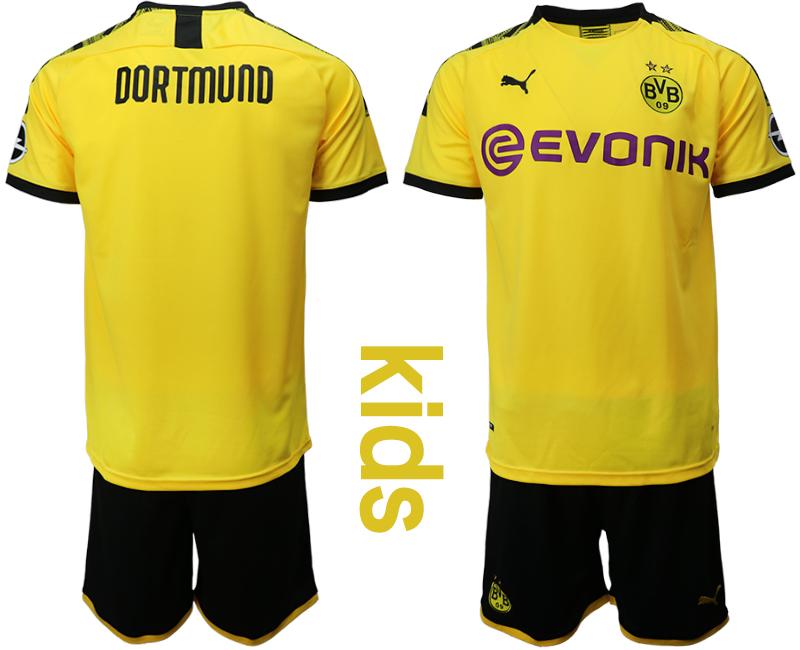 2019-20 Dortmund Youth Home Soccer Jersey
