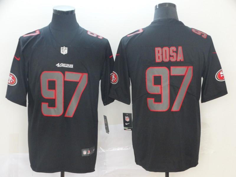 Nike 49ers 97 Nick Bosa Black Impact Rush Limited Jersey