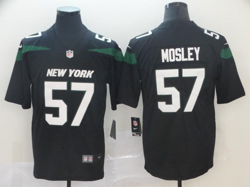 Nike Jets 57 C.J. Mosley Black New 2019 Vapor Untouchable Limited Jersey