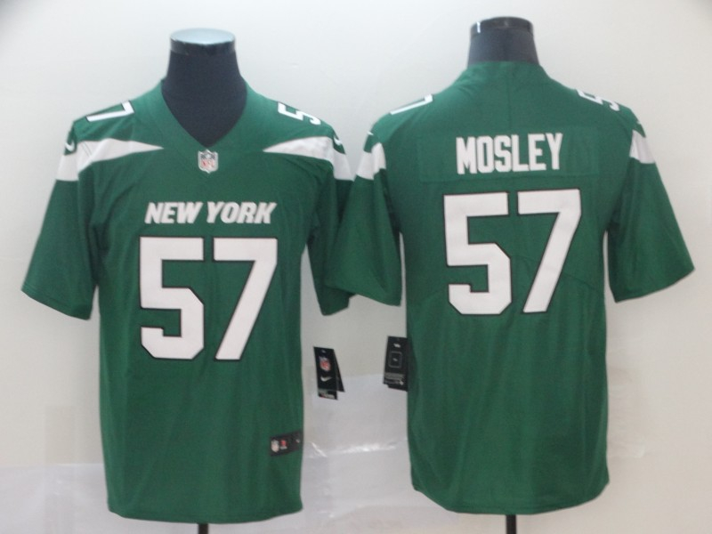 Nike Jets 57 C.J. Mosley Green New 2019 Vapor Untouchable Limited Jersey