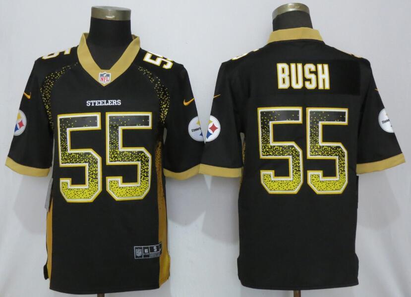 Nike Steelers 55 Devin Bush Black Drift Fashion Limited Jersey