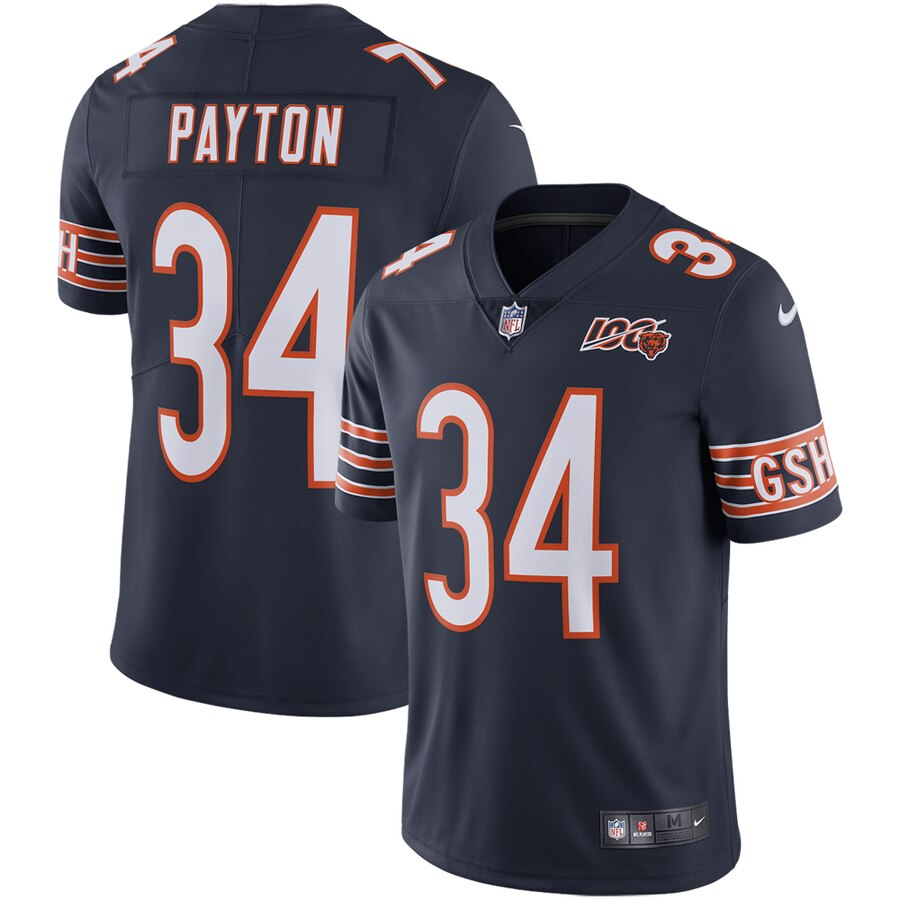 Nike Bears 34 Walter Payton Navy 100th Anniversary Retired Vapor Untouchable Limited Jersey