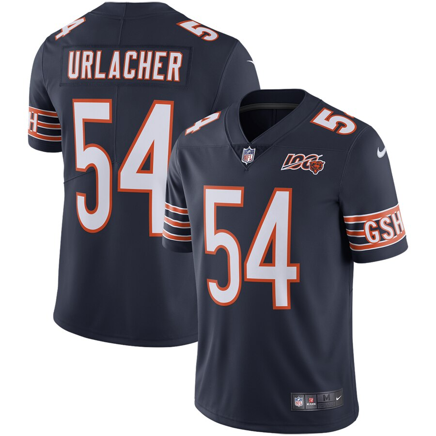 Nike Bears 54 Brian Urlacher Navy 100th Anniversary Retired Vapor Untouchable Limited Jersey