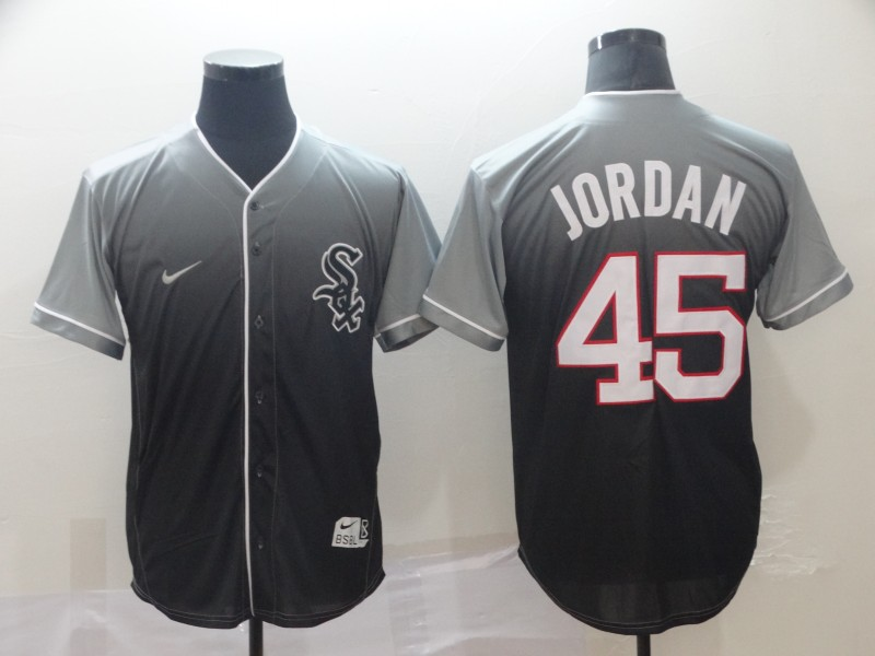 White Sox 45 Michael Jordan Gray Drift Fashion Jersey