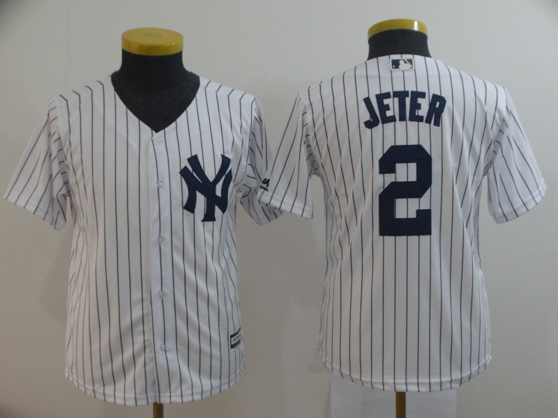 Yankees 2 Derek Jeter White New Cool Base Jersey