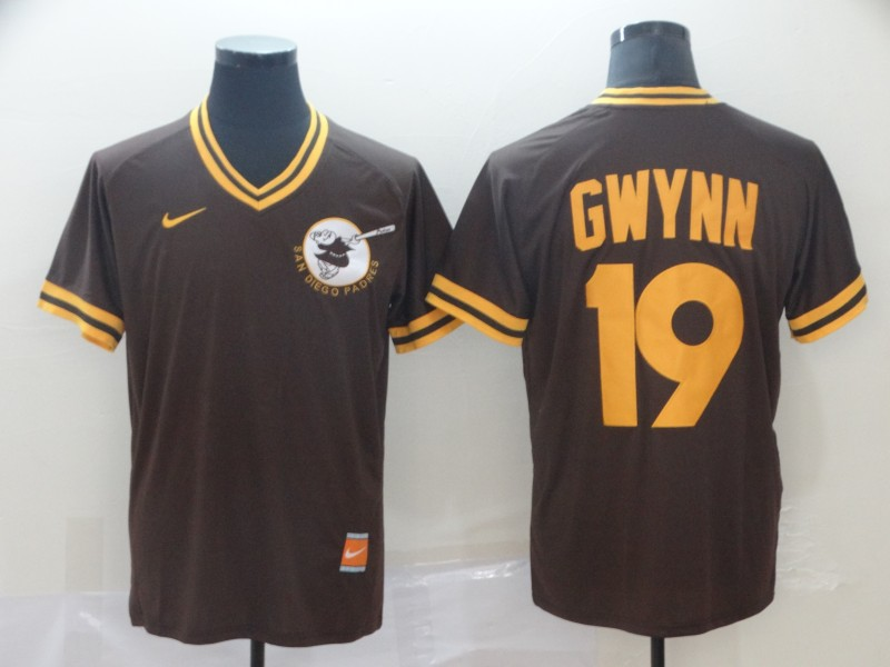 Padres 19 Tony Gwynn Brown Throwback Jersey