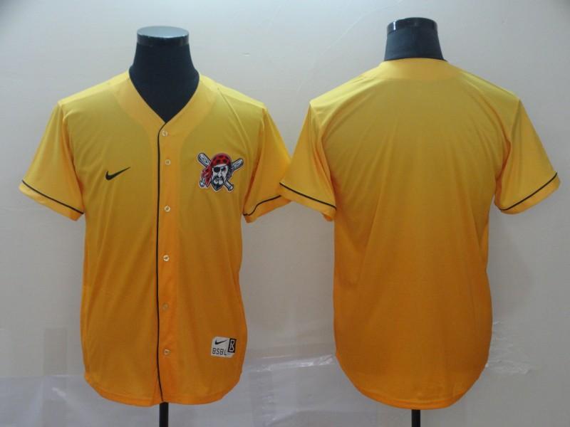 Pirates Blank Yellow Drift Fashion Jersey