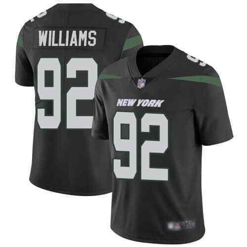 Nike Jets 92 Leonard Williams Black New 2019 Vapor Untouchable Limited Jersey