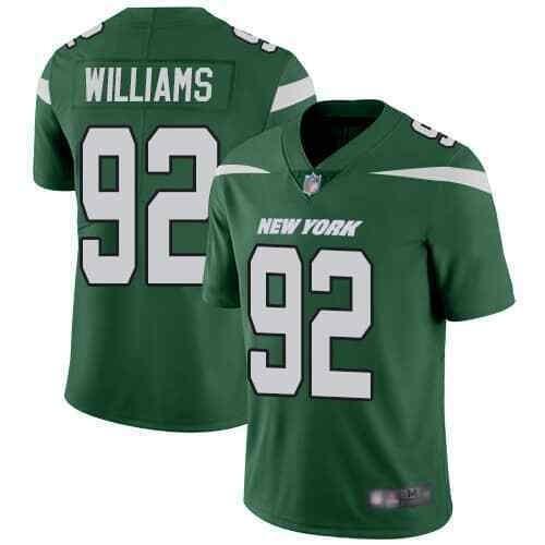 Nike Jets 92 Leonard Williams Green New 2019 Vapor Untouchable Limited Jersey