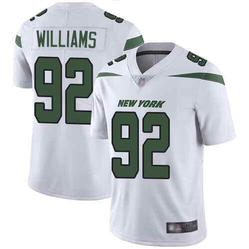 Nike Jets 92 Leonard Williams White New 2019 Vapor Untouchable Limited Jersey