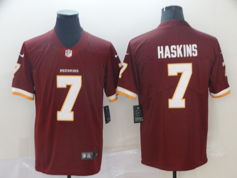 Nike Redskins 7 Dwayne Haskins Burgundy 2019 NFL Draft First Round Pick Vapor Untouchable Limited Jersey