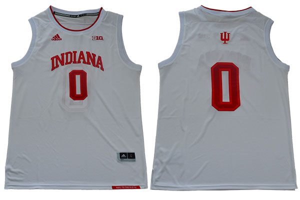 Indiana Hoosiers 0 Romeo Langford White College Basketball Jersey