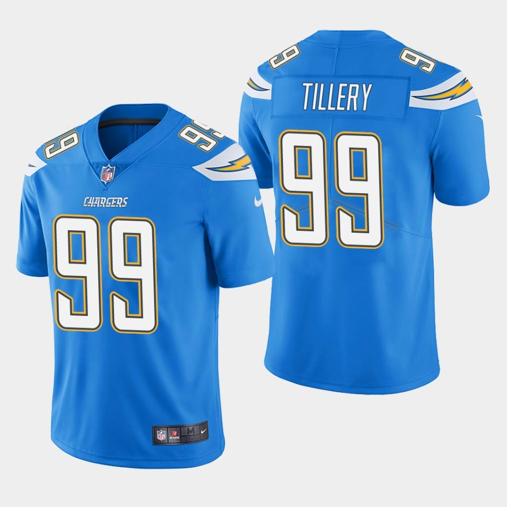 Nike Chargers 99 Jerry Tillery Blue Youth 2019 NFL Draft First Round Pick Vapor Untouchable Limited Jersey