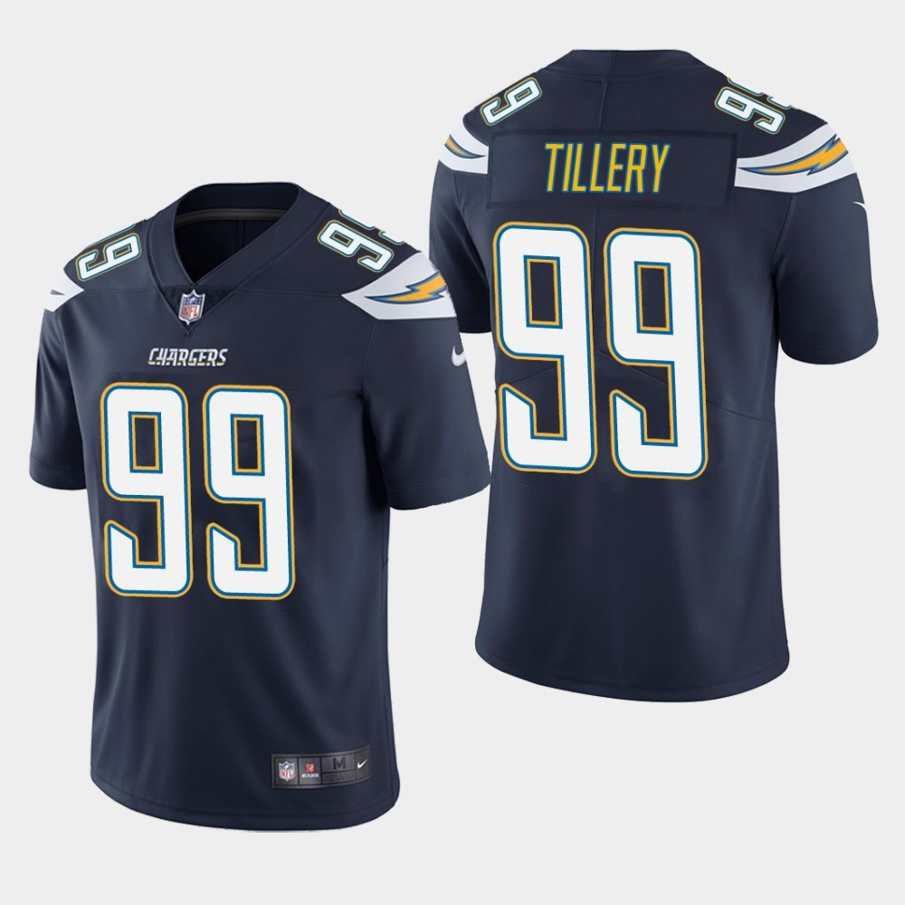 Nike Chargers 99 Jerry Tillery Navy Youth 2019 NFL Draft First Round Pick Vapor Untouchable Limited Jersey
