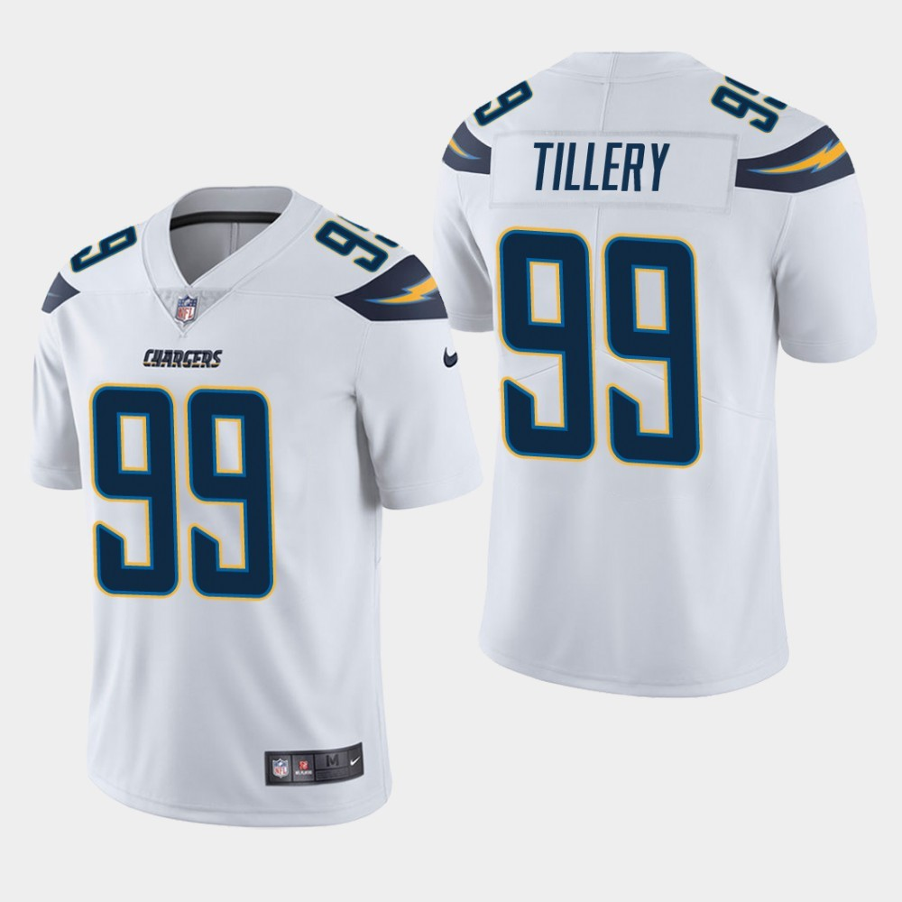 Nike Chargers 99 Jerry Tillery White Youth 2019 NFL Draft First Round Pick Vapor Untouchable Limited Jersey